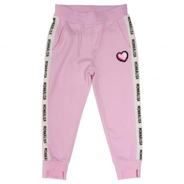 Różowe spodnie dla dziewczynki Monnalisa 003166