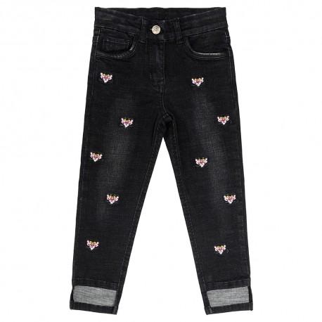 Czarne jeansy dla dziecka Monnalisa 003167 A