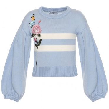 Niebieski sweter dla dziecka Monnalisa 003168 A