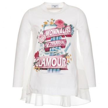 Bluzka dziewczęca z baskinką Monnalisa 003169 A