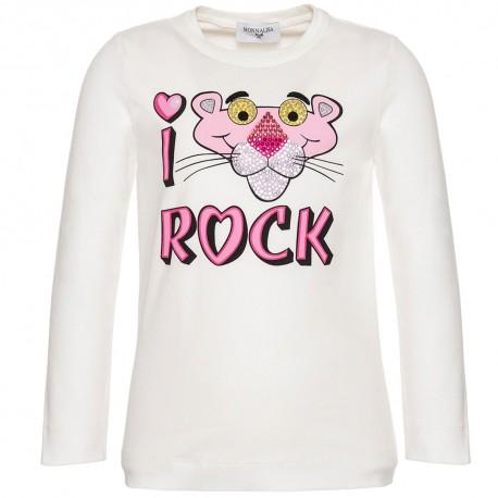 Koszulka dziewczęca Pink Panther Monnalisa 003170 - ubrania dla dzieci