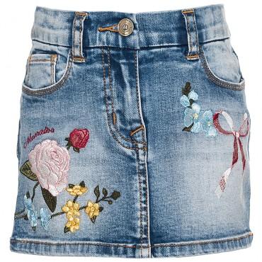Jeansowa spódnica dla dziewczynki Monnalisa 003171 A