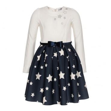 Wizytowa sukienka dla dziewczynki Monnalisa 003172