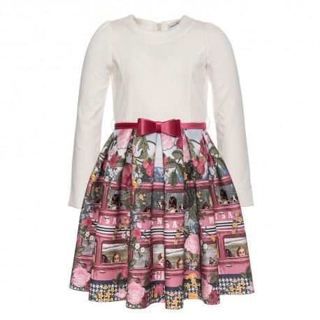 Odświętna sukienka dziewczęca Monnalisa 003173 A
