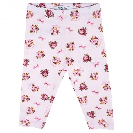 Legginsy dla niemowlaka w kwiatki Monnalisa 003176 A