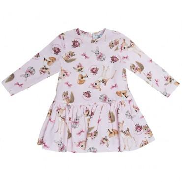 Sukienka niemowlęca z dzianiny Monnalisa 003180 A