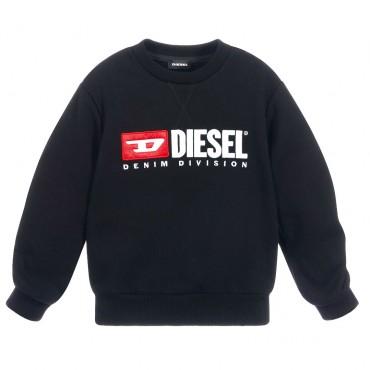 Czarna bluza dziewczęca oversize Diesel 003196 A