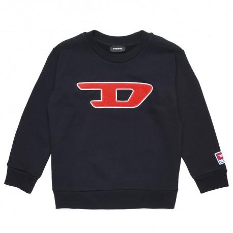 Czarna bluza dziecięca z monogramem Diesel 003198 A