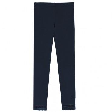 Granatowe legginsy dziewczęce Twin Set 003204 A