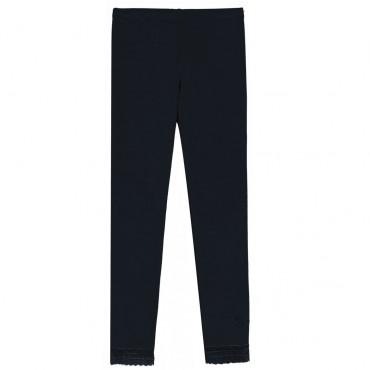 Czarne legginsy dla dziewczynki Twin Set 003205 A