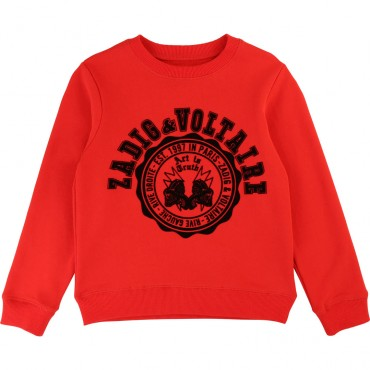 Czerwona bluza chłopięca Zadig&Voltaire 003212