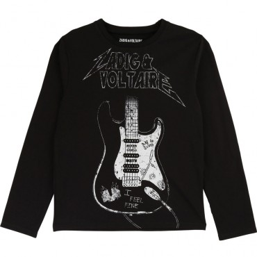 T-shirt chłopięcy z gitarą Zadig&Voltaire 003214
