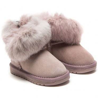 Śniegowce dla dzieci Monnalisa 003226 A - zimowe obuwie dziewczęce