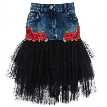 Efektowna spódnica dziewczęca Monnalisa 003228