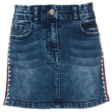 Spódnica dziewczęca z perełkami Monnalisa 003229 A