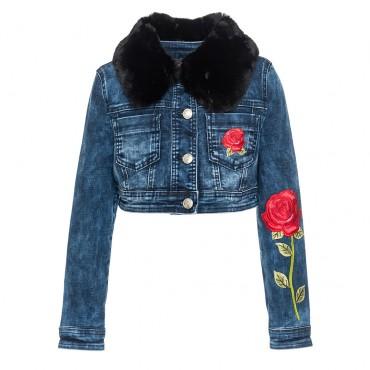 Kurtka jeansowa dla dziewczynki Monnalisa 003231 A