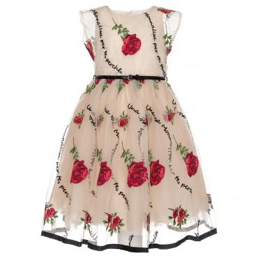 Efektowna sukienka dziewczęca Monnalisa 003234 A