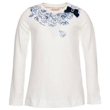 Koszulka dziewczęca z kokardką Monnalisa 003238 A