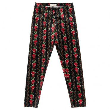 Welurowe legginsy dla dziewczynki Monnalisa 003239 A