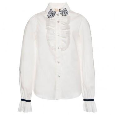 Bluzka dziewczęca z żabotem Monnalisa 003240 A