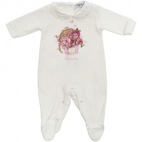 Śpioszki niemowlęce w pudełeczku Monnalisa 003243 A