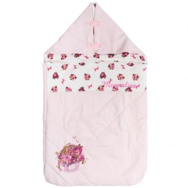 Różowy śpiworek niemowlęcy Monnalisa 003244 A