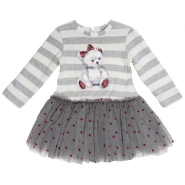 Sukienka niemowlęca z misiem Monnalisa 003245