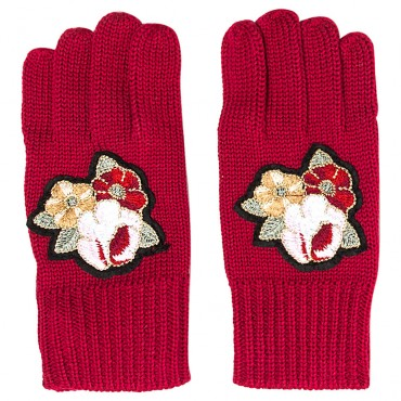 Czerwone rękawiczki dla dziecka Monnalisa 003252 A