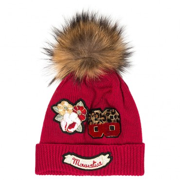 Czerwona czapka dla dziecka Monnalisa 003253