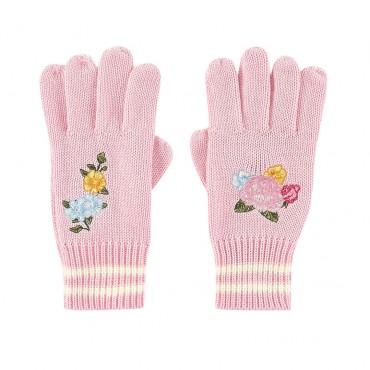 Różowe rękawiczki dziewczęce Monnalisa 003254 A