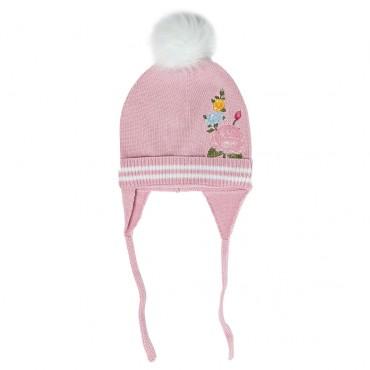 Różowa czapka dla dziecka Monnalisa 003255 A