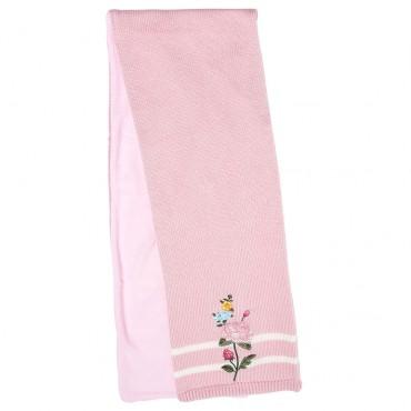 Różowy szalik dla dziewczynki Monnalisa 003256 A