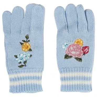 Niebieskie rękawiczki dla dziecka Monnalisa 003257 A