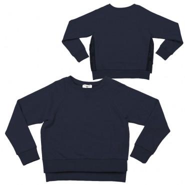 Granatowa bluza dziewczęca Monnalisa 003260 A