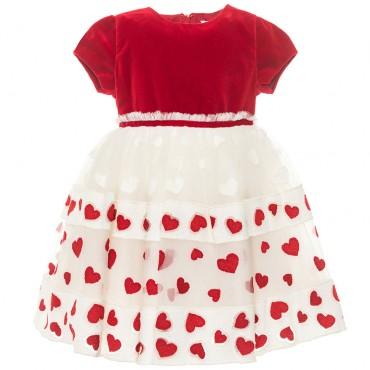 Świąteczna sukienka niemowlęca Monnalisa 003267