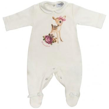Śpioszki niemowlęce z jelonkiem Monnalisa 003270 A