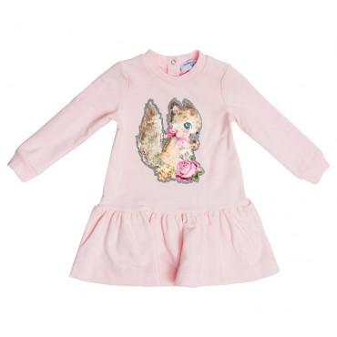 Bawełniana sukienka niemowlęca Monnalisa 003241 A