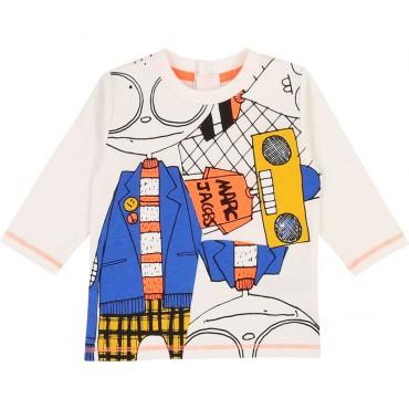 Bawełniana koszulka dla małego chłopca LMJ 003282 A