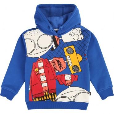 Jaskrawoniebieska bluza chłopięca LMJ 003289 A