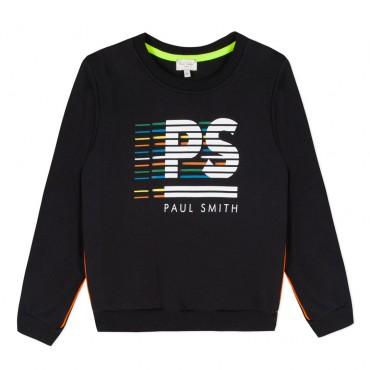 Czarna bluza dla dziecka z monogramem PS 003292 A