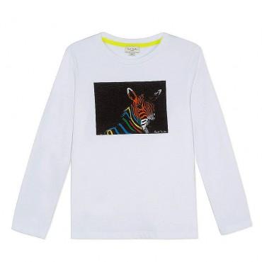 T-shirt chłopięcy Neon Zebra Paul Smith 002994 B