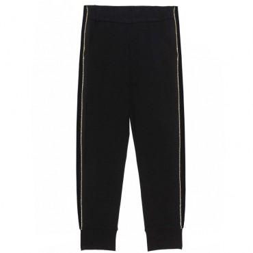 Czarne spodnie dla dziewczynki Twin Set 003304