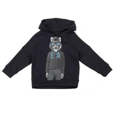Bluza dla dziecka z wilkiem Emporio Armani 003316