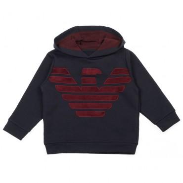 Bluza chłopięca z dużym logo Emporio Armani 003318 A