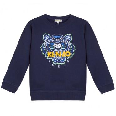Bluza dla dziecka z kultowym tygrysem Kenzo 003322 A