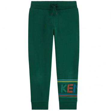 Zielone spodnie dresowe dla dziecka Kenzo 003328