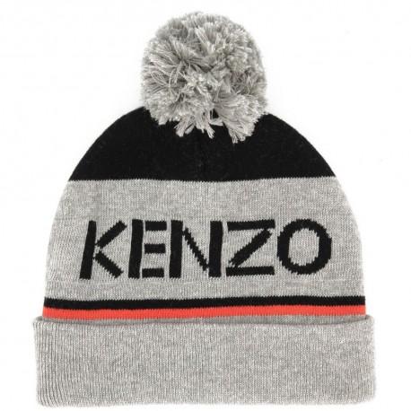 Czapka dziecięca z pomponem i logo Kenzo 003332 A
