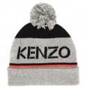 Czapka dziecięca z pomponem i logo Kenzo 003332