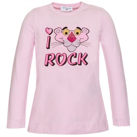 T-shit dziewczęcy Różowa Pantera Monnalisa 003338 A