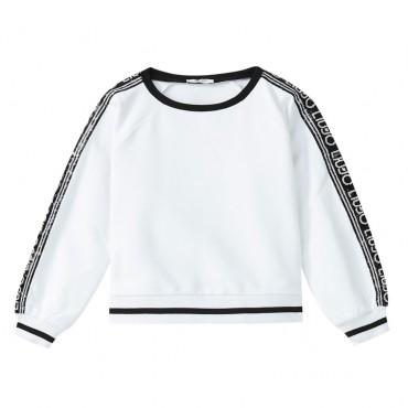 Bluza dziewczęca z logo na rękawach Liu Jo 003347  A